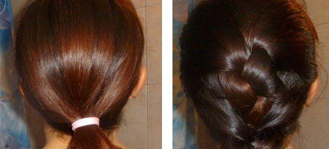 Басма для волос пропорции и цвет до после два