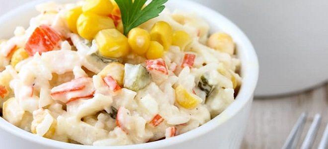 крабовый салат с сыром и кукурузой рецепт