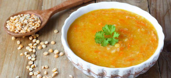 вегетарианский гороховый суп рецепт