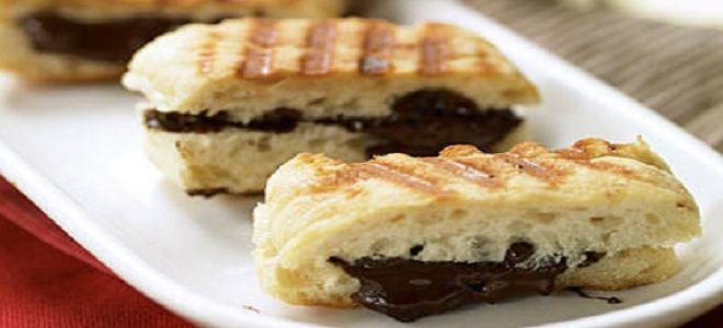 панини с шоколадом