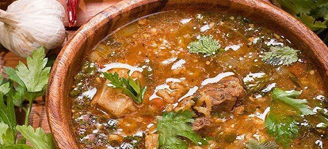 классический суп харчо из говядины с рисом