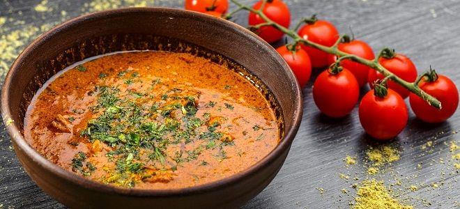 харчо из говядины с помидорами рецепт