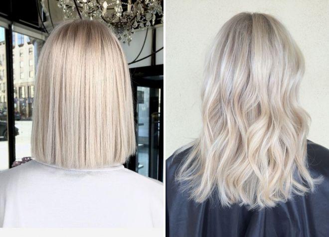 теплый перламутровый блонд