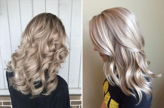 теплый блонд перламутровый