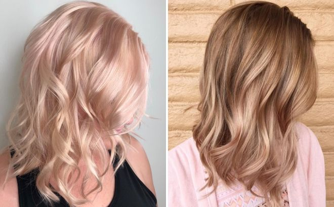 теплый розовый блонд