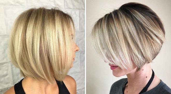 теплый блон на короткие волосы