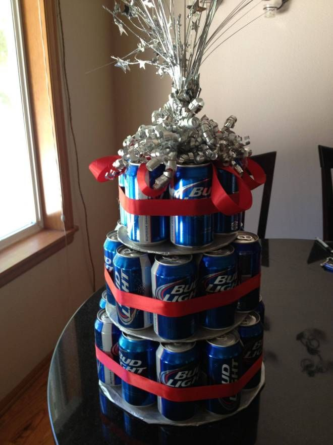 трехъярусный торт из пива