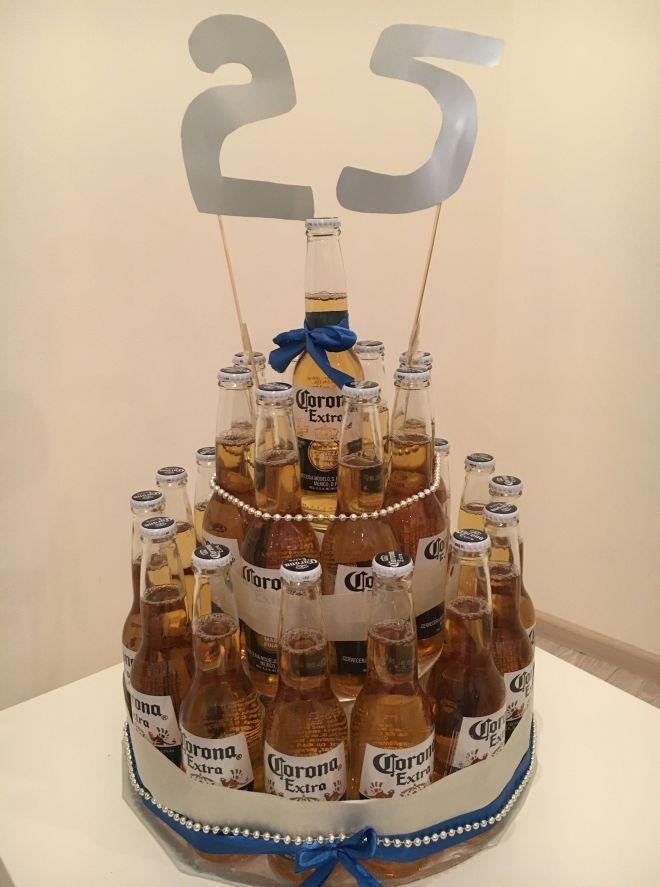 презент из пивных бутылок к юбилею