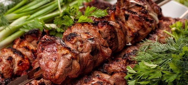 шашлык на кефире из свинины в духовке