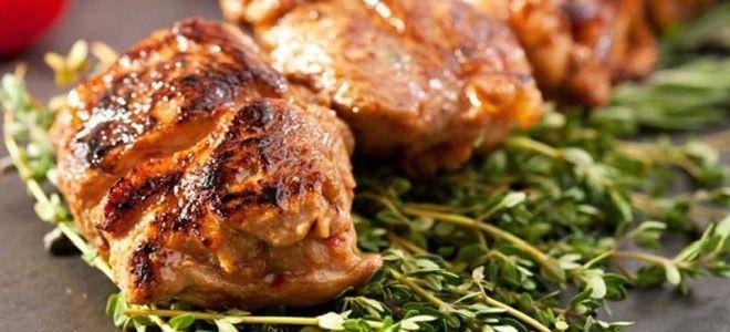 шашлык из окорока свинины в духовке