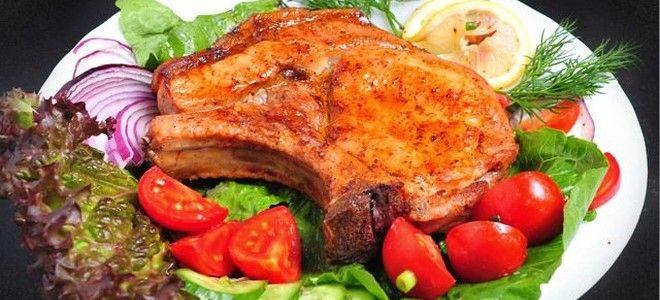 шашлык из свиной корейки в духовке
