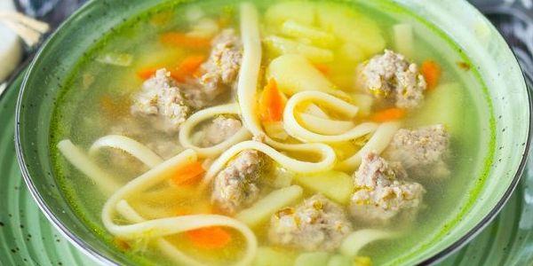 самый вкусный суп с фрикадельками с лапшой
