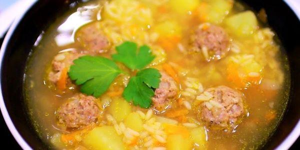 самый вкусный суп с фрикадельками с рисом