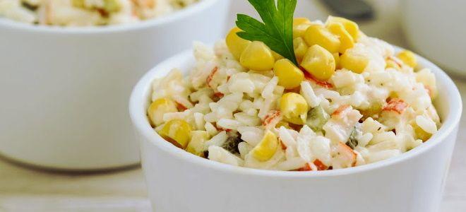 крабовый салат с рисом и кукурузой рецепт