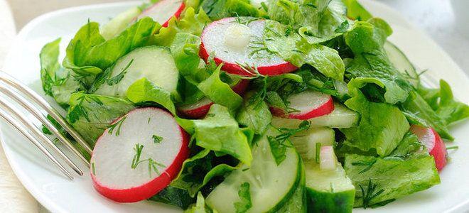 вкусный салат с редисом