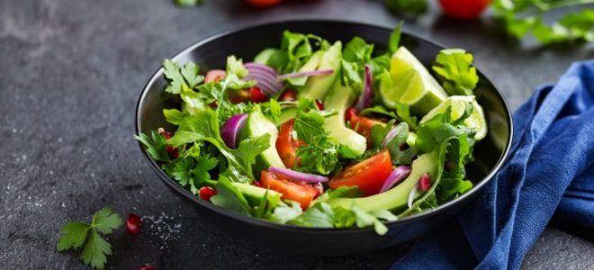 вкусный салат с авокадо рецепт