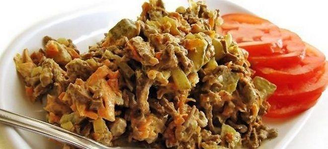 очень вкусный салат с говяжьей печенью