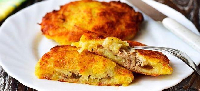 картофельные драники с начинкой