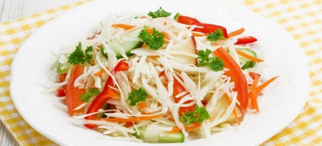 зимний салат из капусты