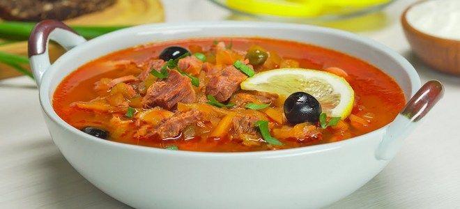 суп мясная сборная солянка классический рецепт