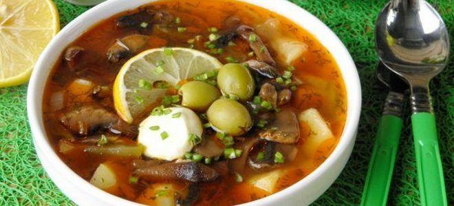 суп грибная солянка