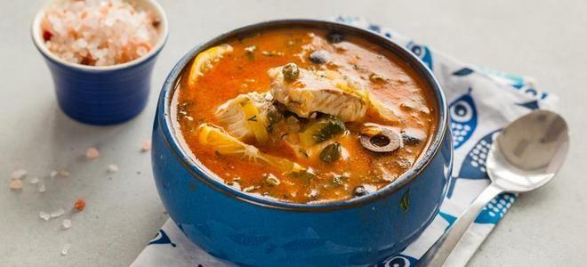 суп рыбная солянка классический рецепт