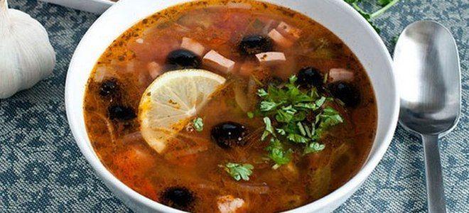 суп солянка с картошкой классический рецепт