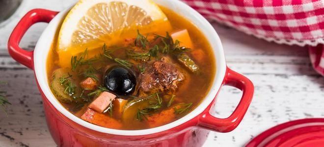 суп солянка с копченостями рецепт
