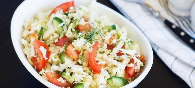 салат из капусты огурцов и помидоров