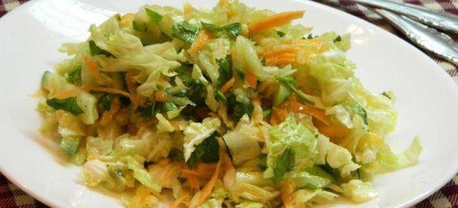салат с капустой морковкой и огурцом