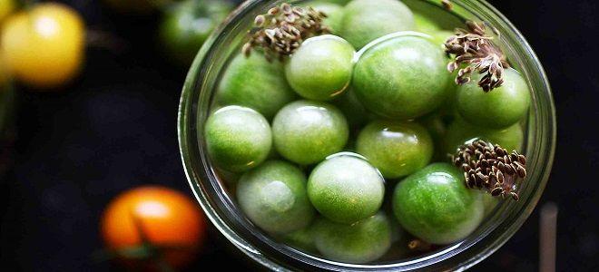 целые зеленые помидоры черри по корейски рецепт