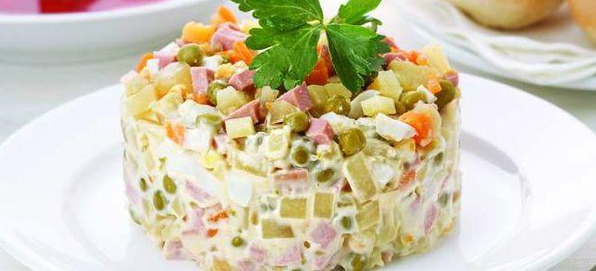зимний салат оливье рецепт классический
