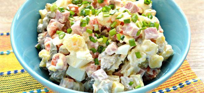 салат зимний со сметаной