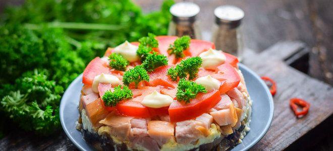 рецепт салата любимый муж с копченой грудкой