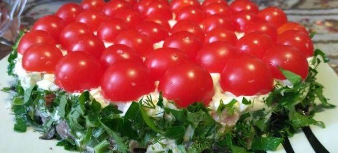салат любимый муж с помидорами