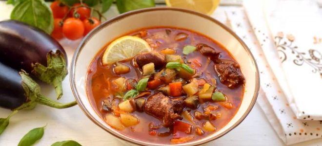 томатный суп с копченостями рецепт