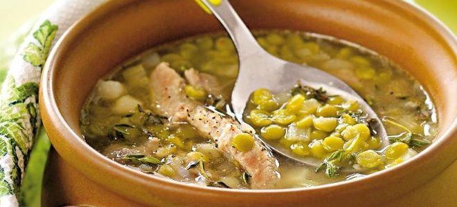 гороховый суп с копчеными ребрышками рецепт