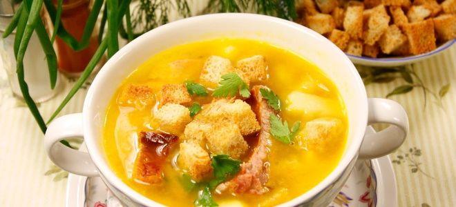 картофельный суп с копченостями