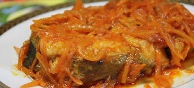 горбуша под маринадом из моркови и лука