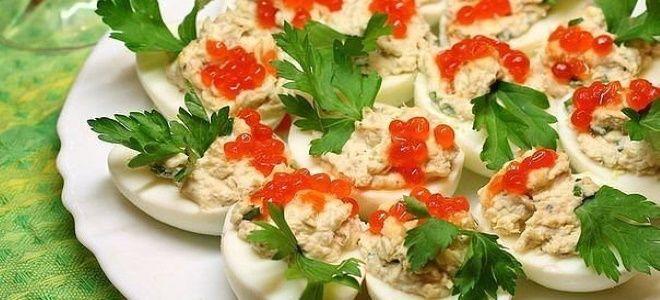 яйца фаршированные крилем рецепт