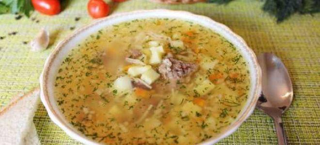 грибной суп с тушенкой и картошкой