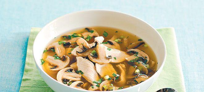 грибной суп с курицей и картошкой рецепт