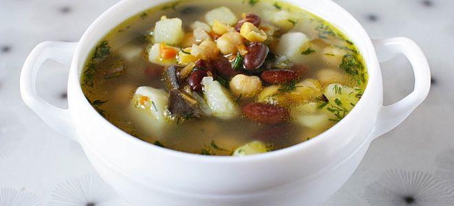 рибной суп с фасолью и картошкой