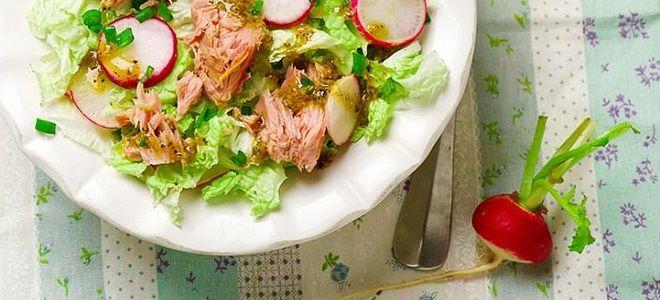 салат с пекинской капустой и тунцом рецепт