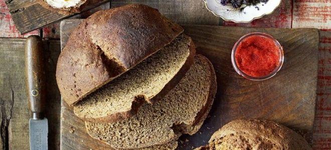 заварной черный хлеб рецепт