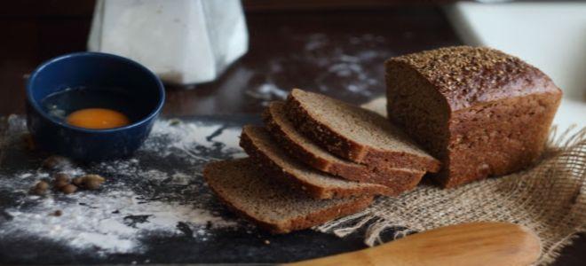 черный хлеб в духовке на сухих дрожжах