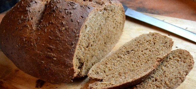 черный бездрожжевой хлеб