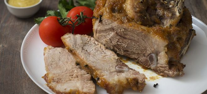 свиной окорок запеченный в духовке рецепт