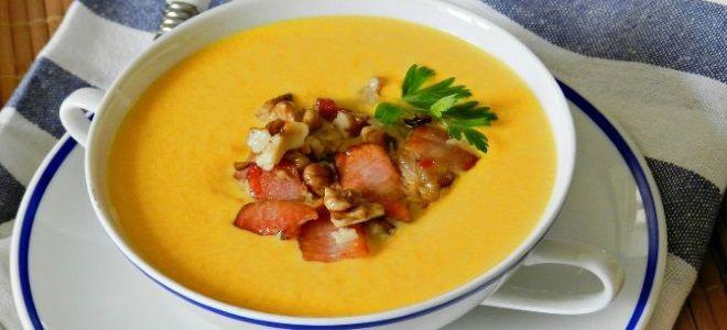 суп пюре из тыквы с беконом