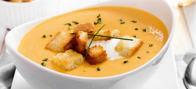 классический тыквенный суп пюре с грибами